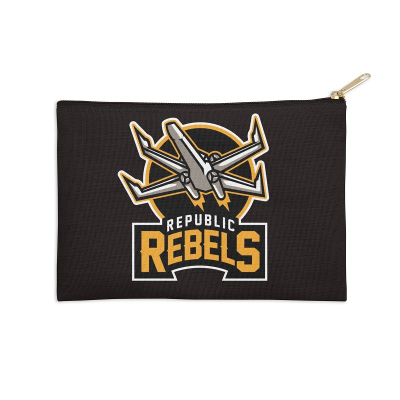 Republic Rebels Accessories Zip Pouch by WanderingBert Shirts and stuff