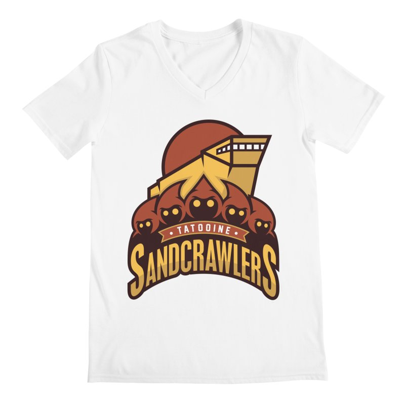 Tatooine SandCrawlers Men's V-Neck by WanderingBert Shirts and stuff