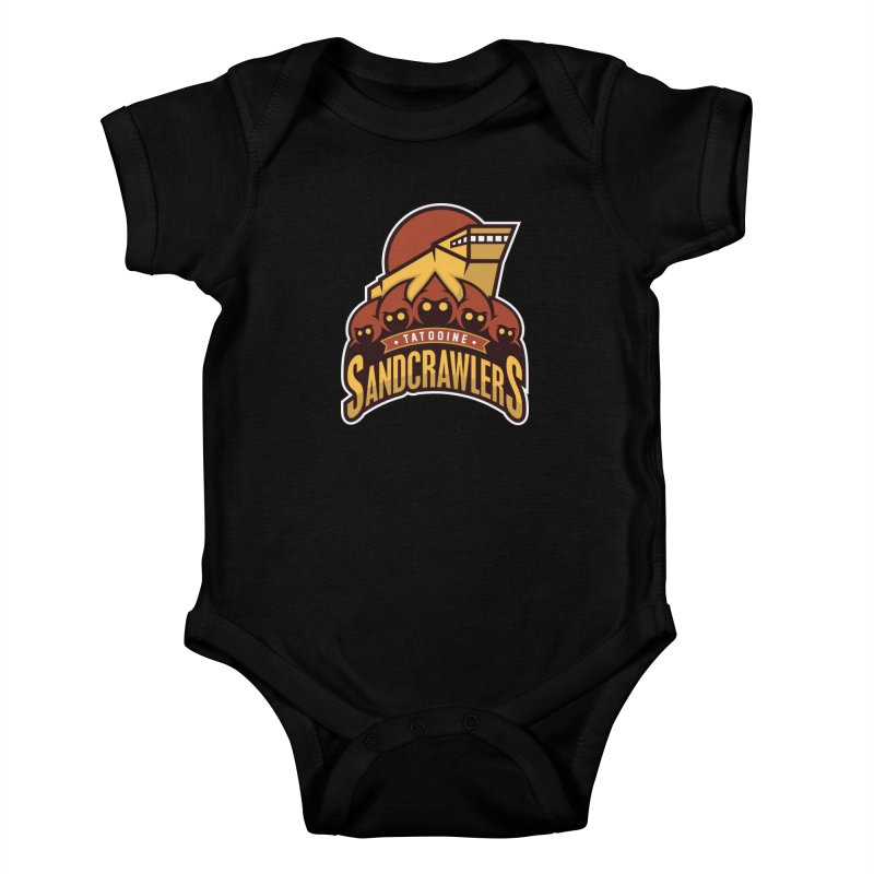 Tatooine SandCrawlers Kids Baby Bodysuit by WanderingBert Shirts and stuff