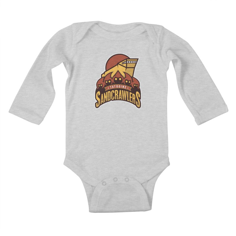 Tatooine SandCrawlers Kids Baby Longsleeve Bodysuit by WanderingBert Shirts and stuff