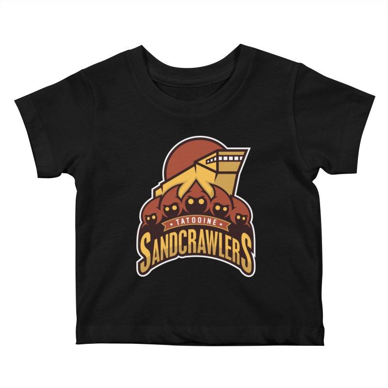Tatooine SandCrawlers Kids Baby T-Shirt by WanderingBert Shirts and stuff