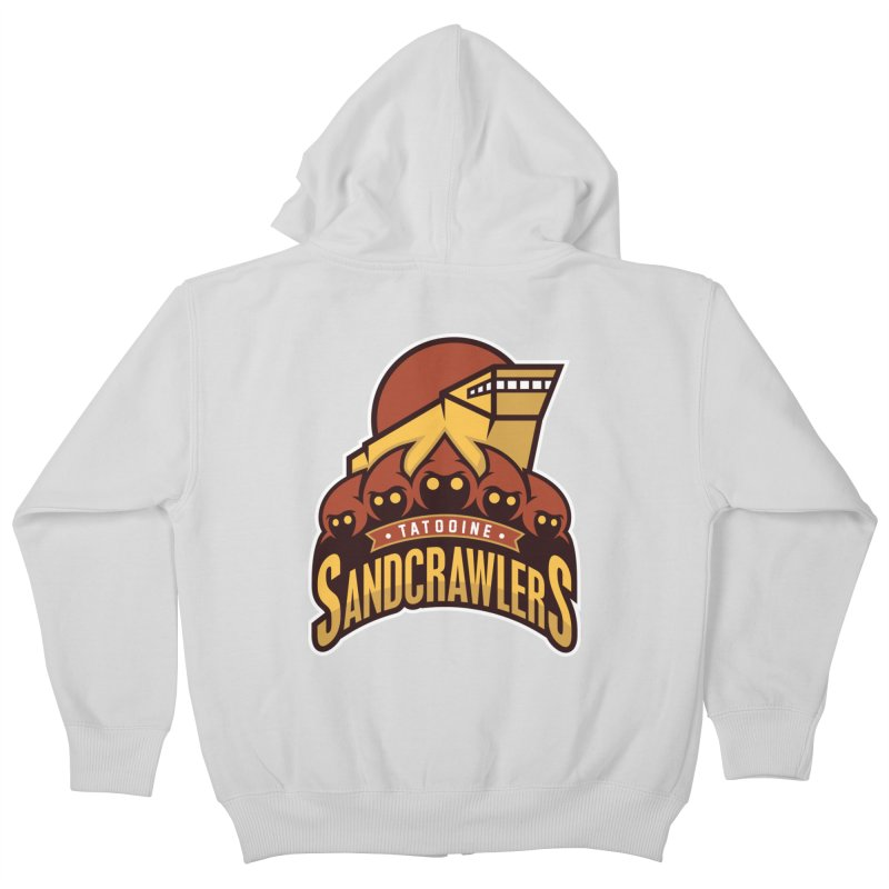 Tatooine SandCrawlers Kids Zip-Up Hoody by WanderingBert Shirts and stuff