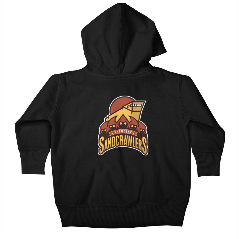 Tatooine SandCrawlers Kids Baby Zip-Up Hoody by WanderingBert Shirts and stuff