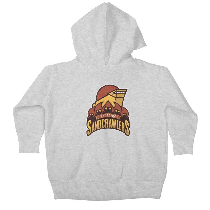 Tatooine SandCrawlers Kids Baby Zip-Up Hoody by WanderingBert Shirts and stuff