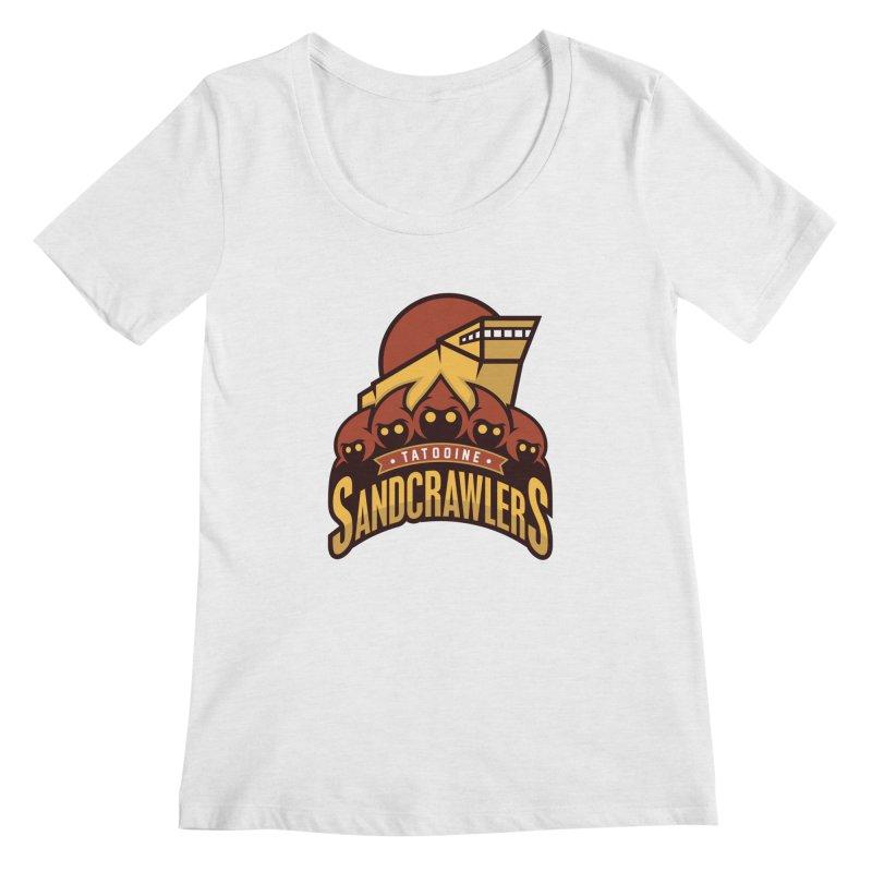 Tatooine SandCrawlers Women's Scoopneck by WanderingBert Shirts and stuff