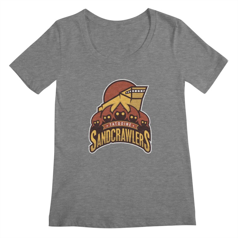 Tatooine SandCrawlers Women's Scoopneck by WanderingBert Shirts and stuff