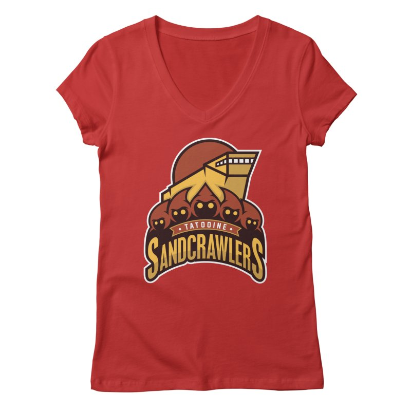 Tatooine SandCrawlers Women's V-Neck by WanderingBert Shirts and stuff