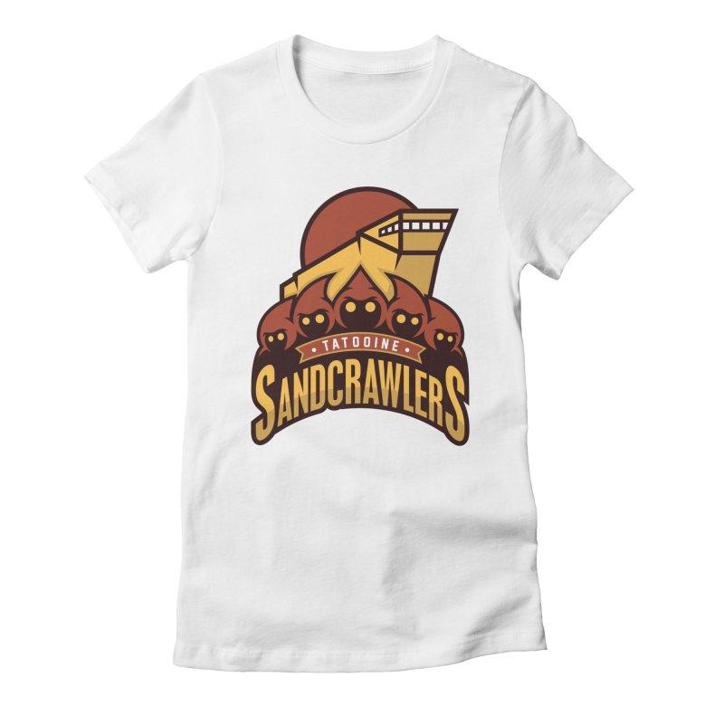 Tatooine SandCrawlers Women's Fitted T-Shirt by WanderingBert Shirts and stuff
