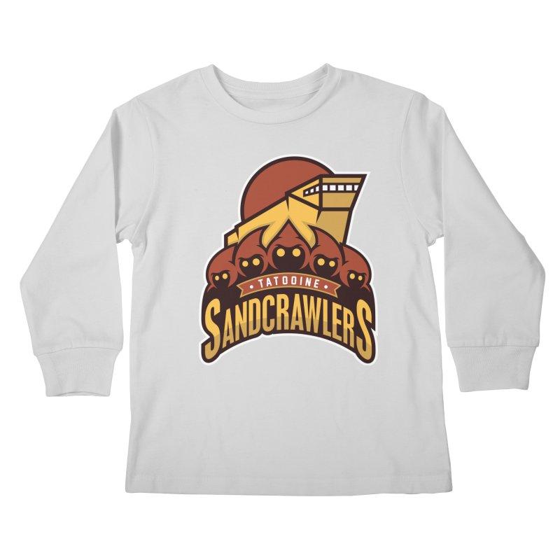 Tatooine SandCrawlers Kids Longsleeve T-Shirt by WanderingBert Shirts and stuff