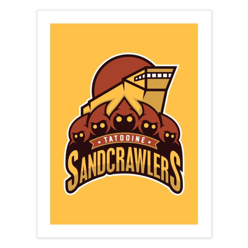Tatooine SandCrawlers Home Fine Art Print by WanderingBert Shirts and stuff