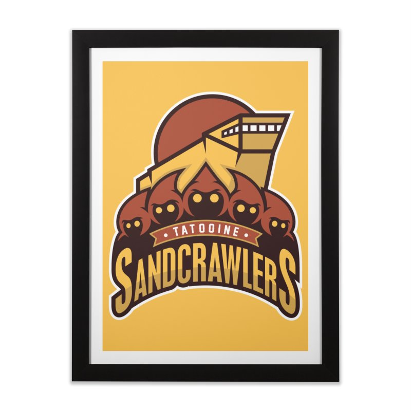 Tatooine SandCrawlers Home Framed Fine Art Print by WanderingBert Shirts and stuff