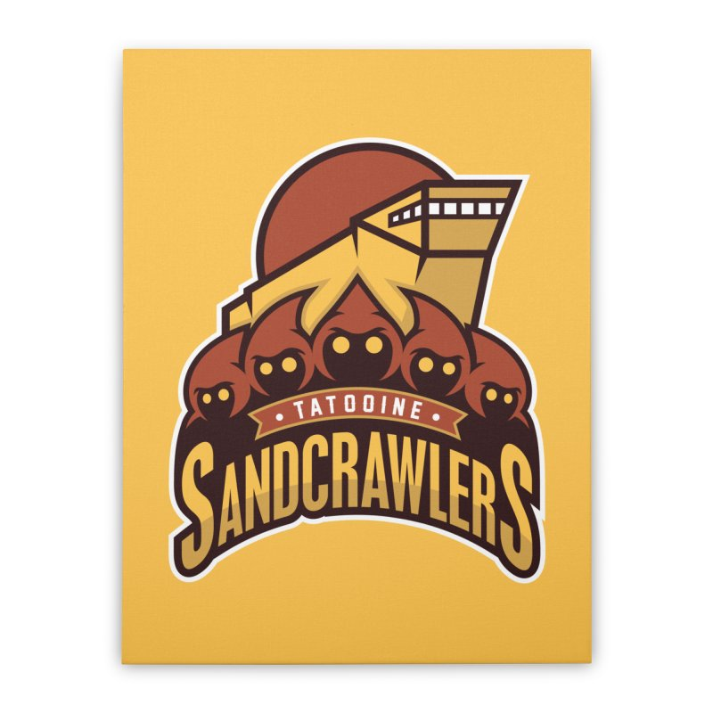 Tatooine SandCrawlers Home Stretched Canvas by WanderingBert Shirts and stuff