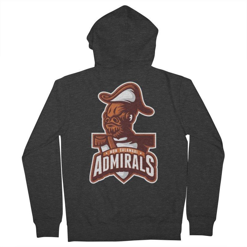 Mon Calamari Admirals Men's Zip-Up Hoody by WanderingBert Shirts and stuff