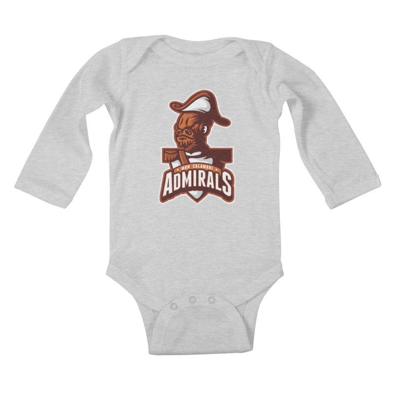 Mon Calamari Admirals Kids Baby Longsleeve Bodysuit by WanderingBert Shirts and stuff