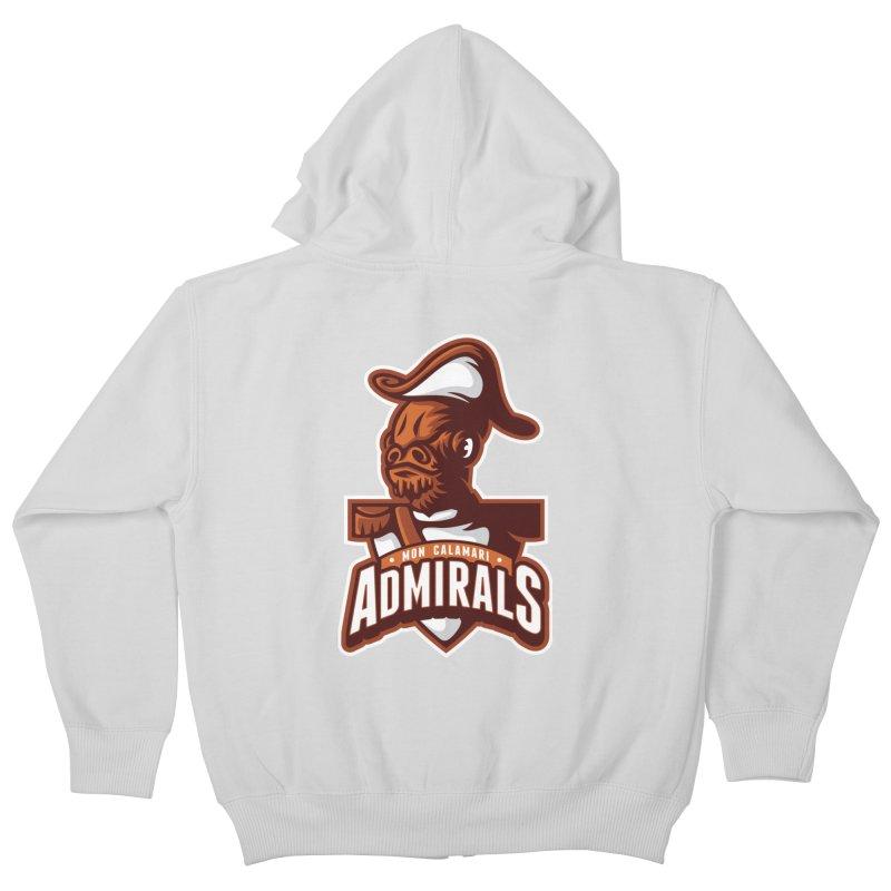 Mon Calamari Admirals Kids Zip-Up Hoody by WanderingBert Shirts and stuff
