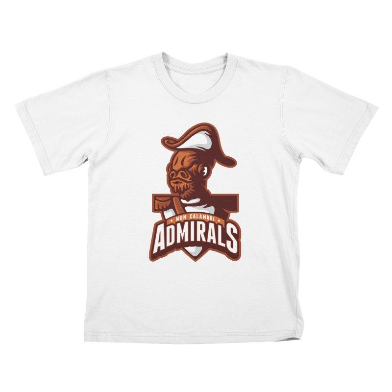 Mon Calamari Admirals Kids T-Shirt by WanderingBert Shirts and stuff