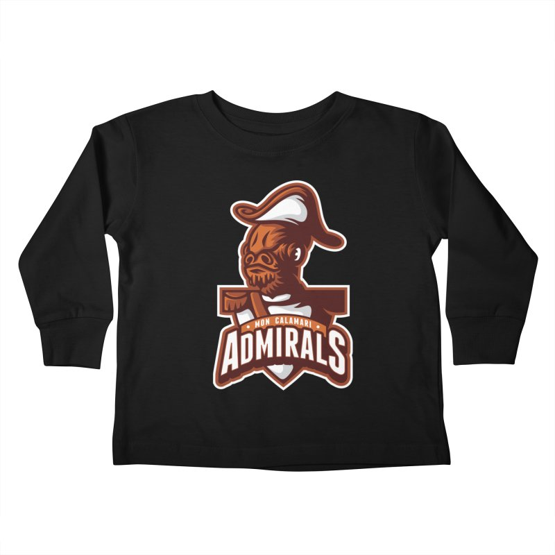 Mon Calamari Admirals Kids Toddler Longsleeve T-Shirt by WanderingBert Shirts and stuff