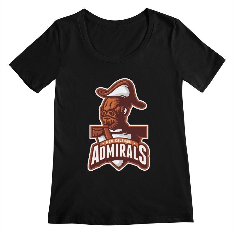 Mon Calamari Admirals Women's Scoopneck by WanderingBert Shirts and stuff