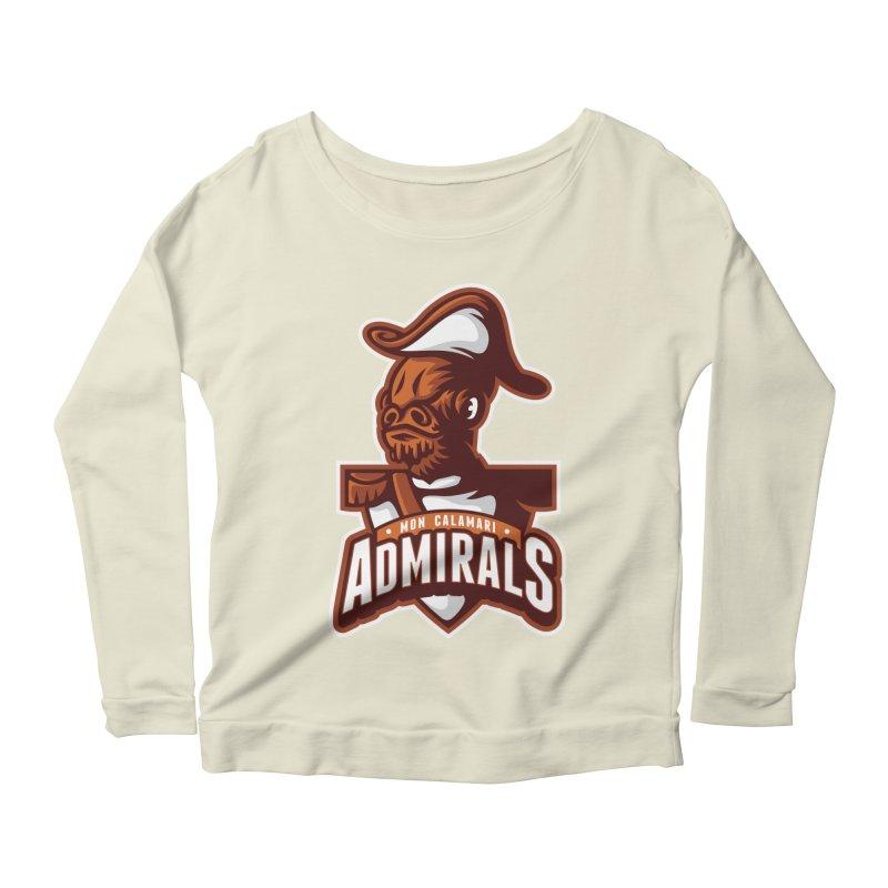 Mon Calamari Admirals Women's Longsleeve Scoopneck  by WanderingBert Shirts and stuff