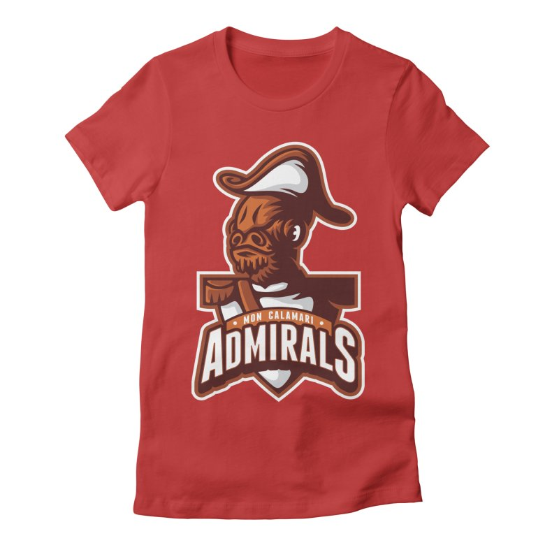 Mon Calamari Admirals Women's Fitted T-Shirt by WanderingBert Shirts and stuff