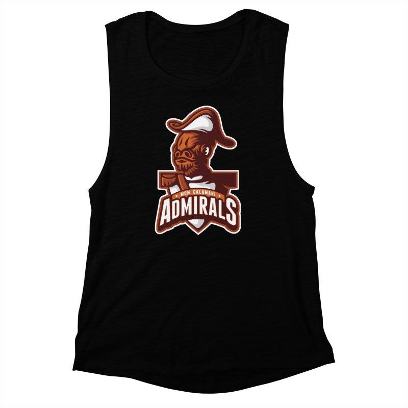 Mon Calamari Admirals Women's Muscle Tank by WanderingBert Shirts and stuff