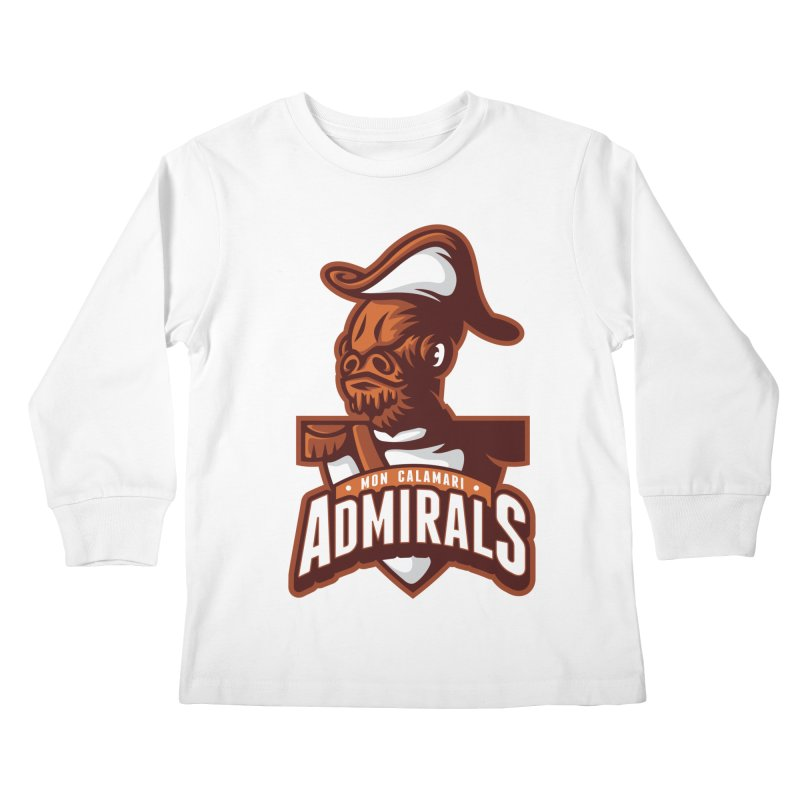 Mon Calamari Admirals Kids Longsleeve T-Shirt by WanderingBert Shirts and stuff