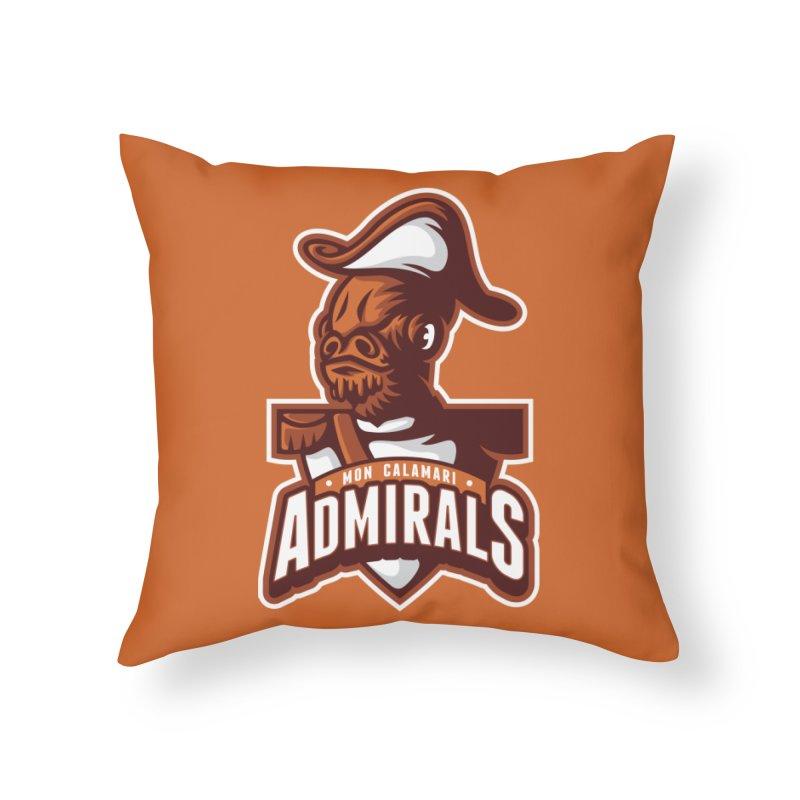 Mon Calamari Admirals Home Throw Pillow by WanderingBert Shirts and stuff