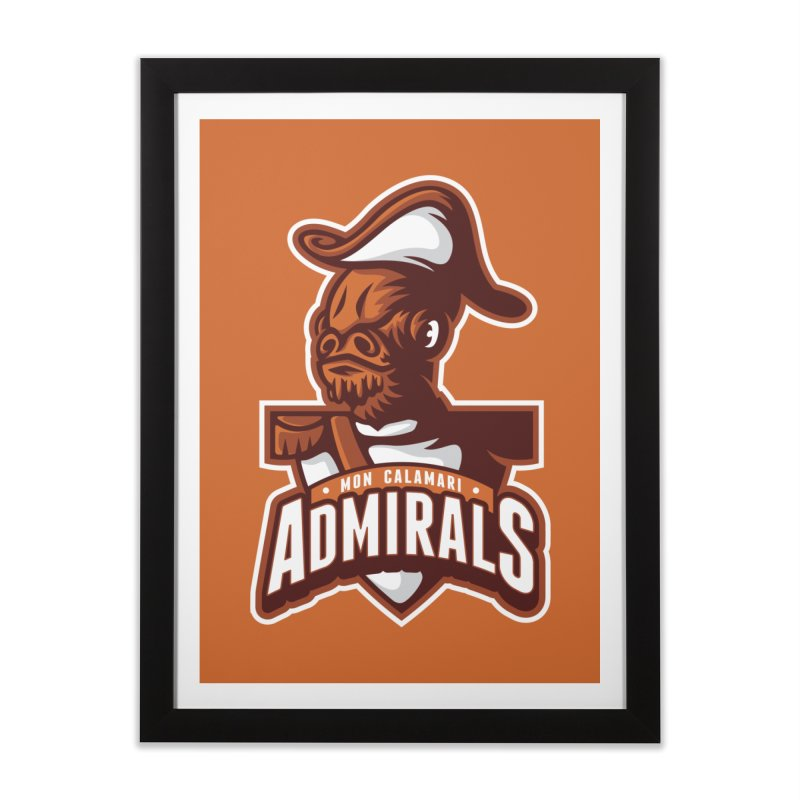 Mon Calamari Admirals Home Framed Fine Art Print by WanderingBert Shirts and stuff