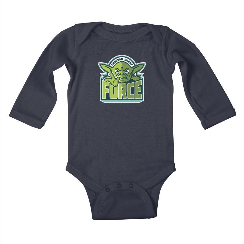 Dagobah Swamp Force Kids Baby Longsleeve Bodysuit by WanderingBert Shirts and stuff