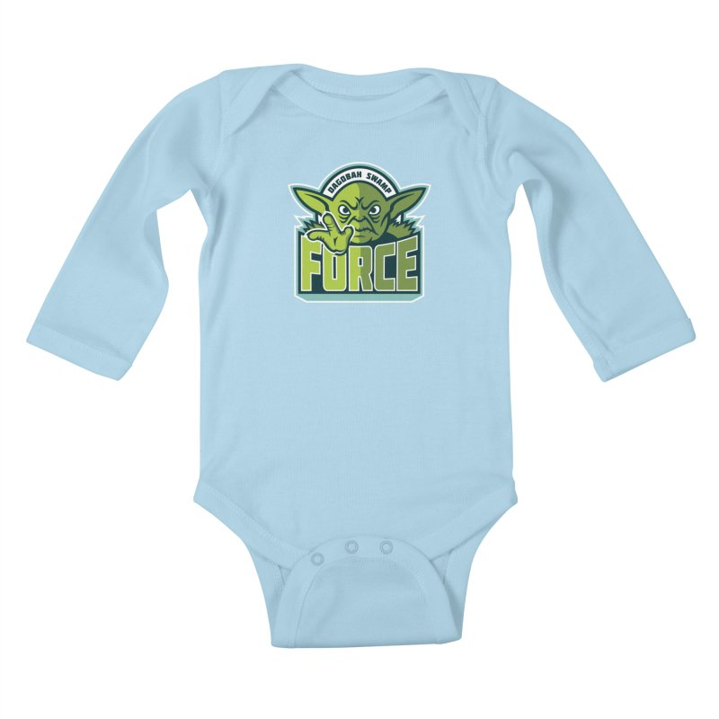Dagobah Swamp Force Kids Baby Longsleeve Bodysuit by WanderingBert Shirts and stuff