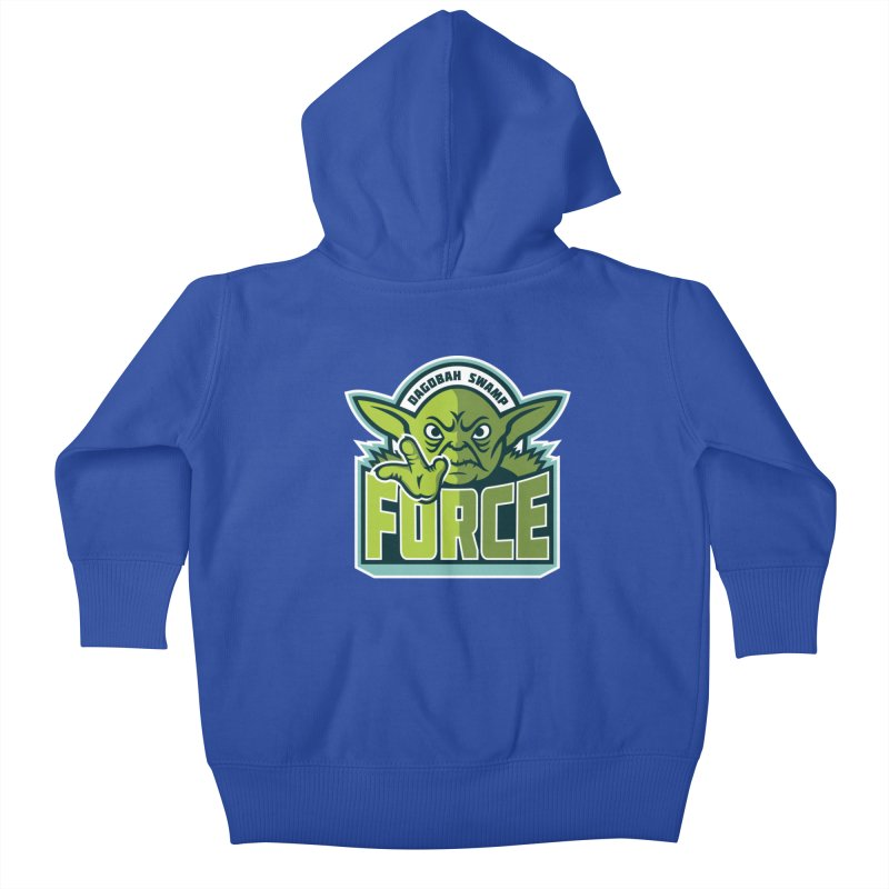 Dagobah Swamp Force Kids Baby Zip-Up Hoody by WanderingBert Shirts and stuff