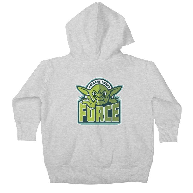 Dagobah Swamp Force Kids Baby Zip-Up Hoody by WanderingBert Shirts and stuff