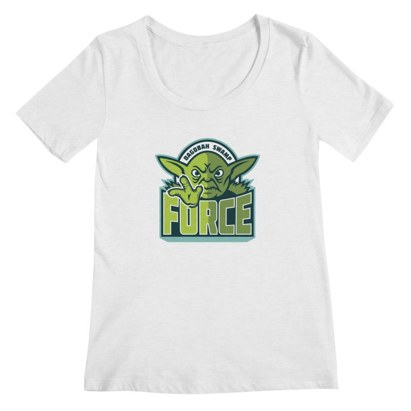 Dagobah Swamp Force Women's Scoopneck by WanderingBert Shirts and stuff