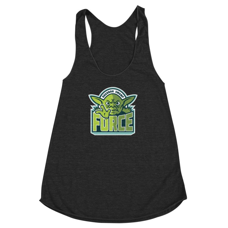 Dagobah Swamp Force Women's Racerback Triblend Tank by WanderingBert Shirts and stuff