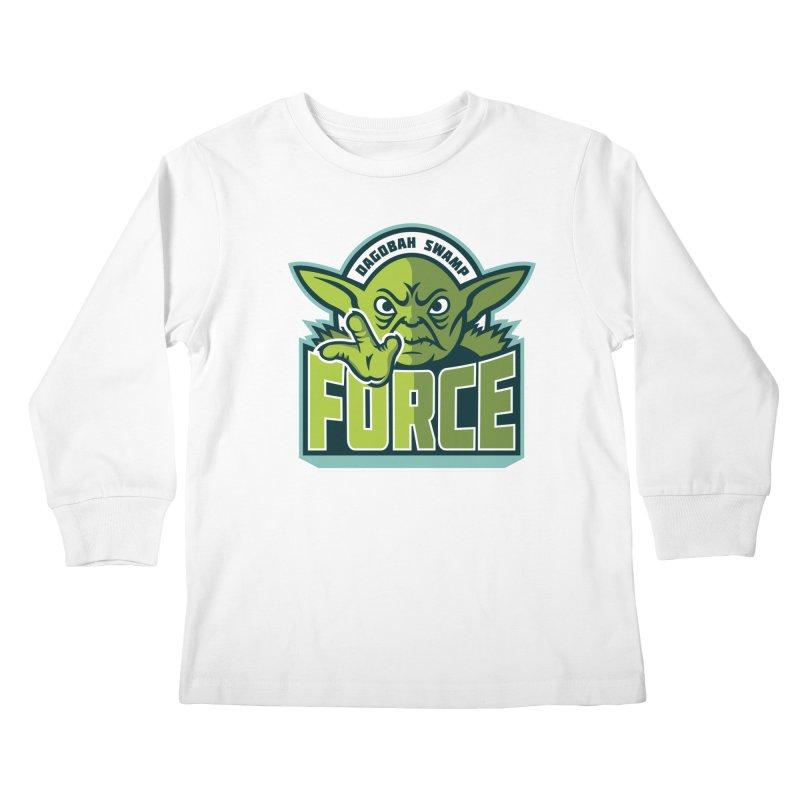 Dagobah Swamp Force Kids Longsleeve T-Shirt by WanderingBert Shirts and stuff