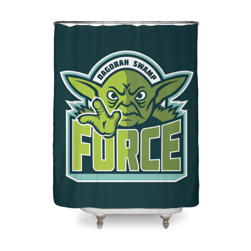 Dagobah Swamp Force Home Shower Curtain by WanderingBert Shirts and stuff