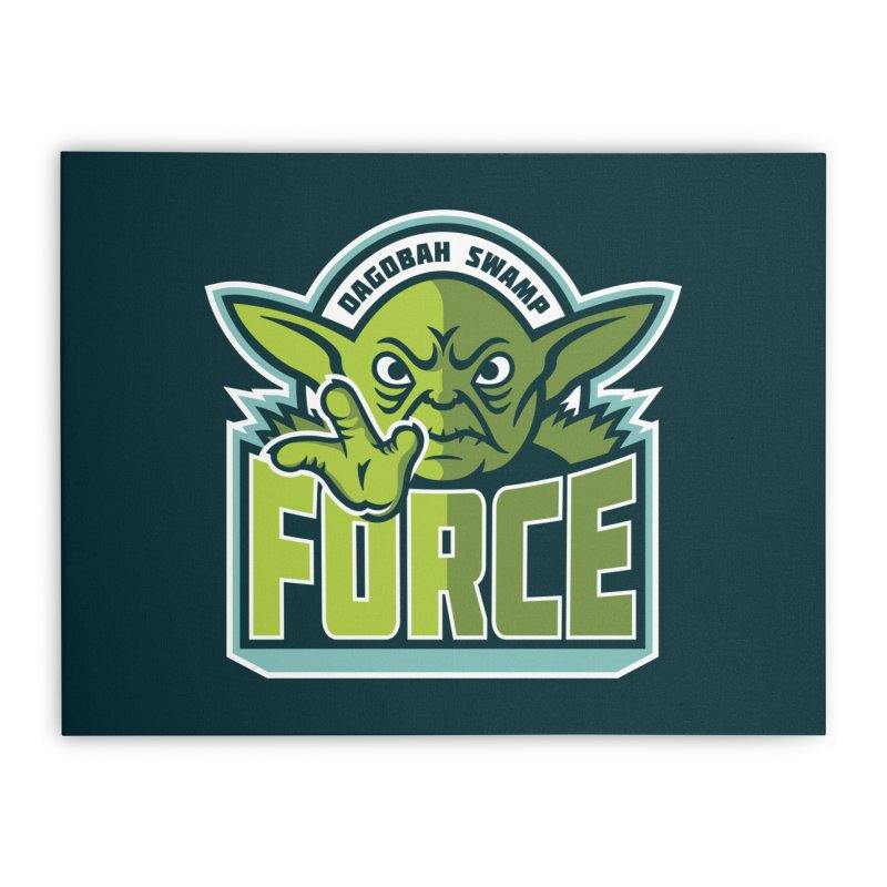 Dagobah Swamp Force Home Stretched Canvas by WanderingBert Shirts and stuff