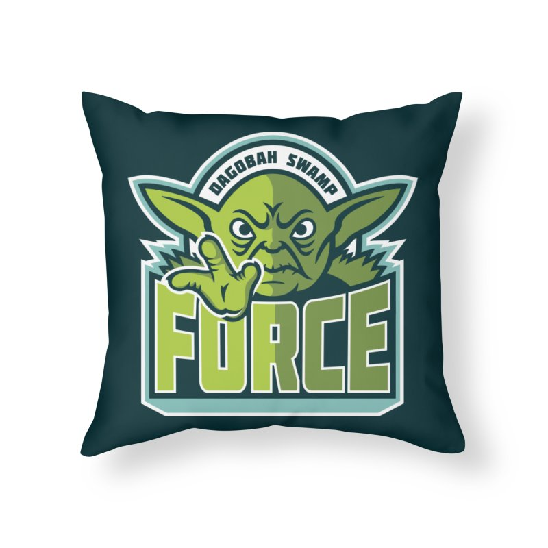 Dagobah Swamp Force Home Throw Pillow by WanderingBert Shirts and stuff