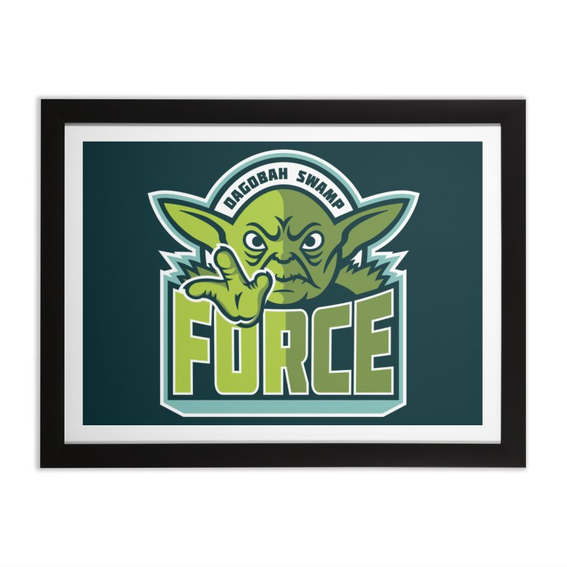 Dagobah Swamp Force Home Framed Fine Art Print by WanderingBert Shirts and stuff