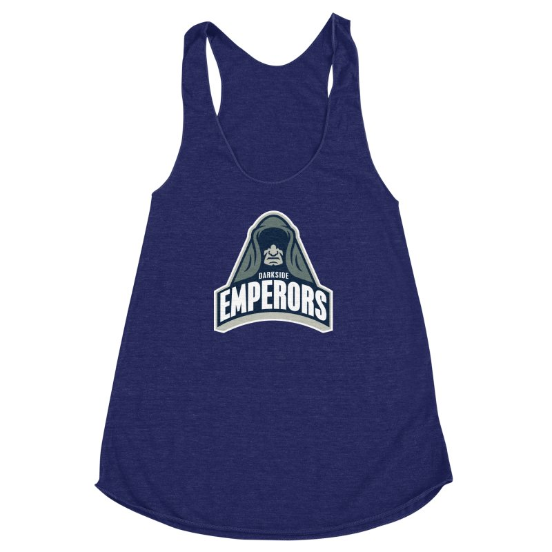 Darkside Emperors Women's Racerback Triblend Tank by WanderingBert Shirts and stuff
