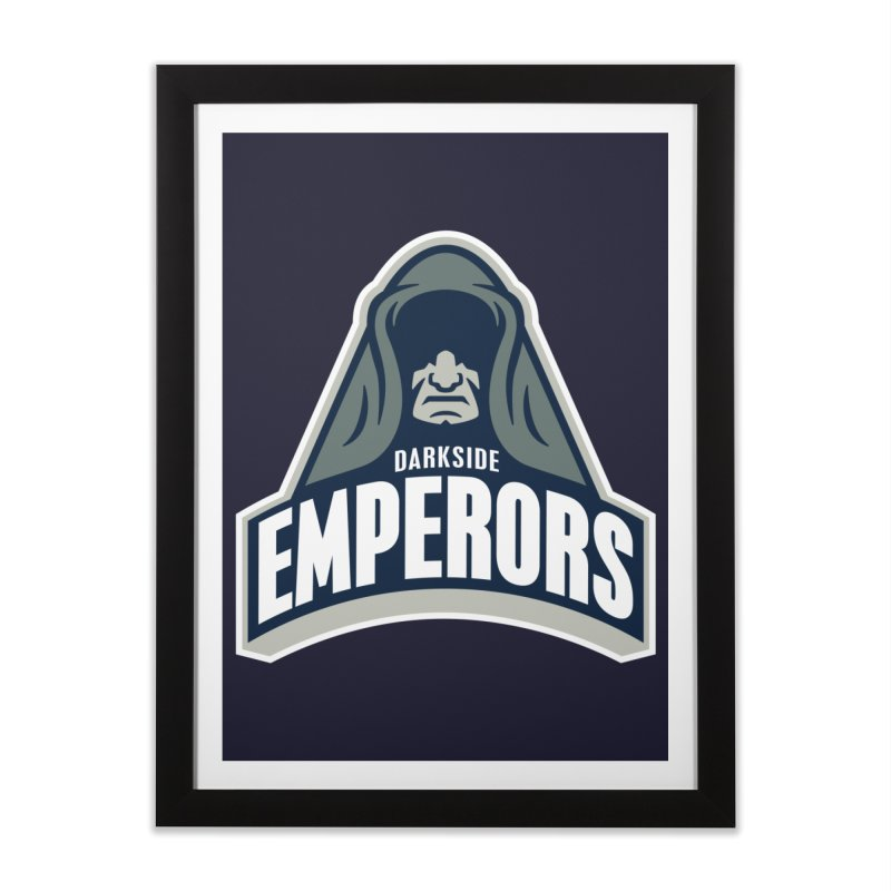 Darkside Emperors Home Framed Fine Art Print by WanderingBert Shirts and stuff
