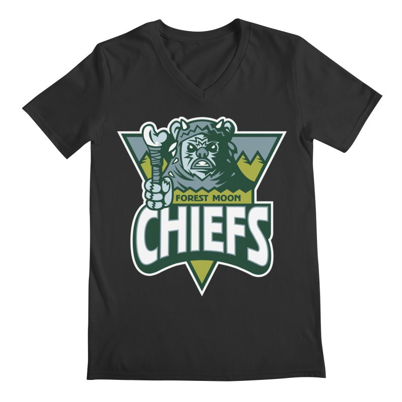Forest Moon Chiefs Men's V-Neck by WanderingBert Shirts and stuff