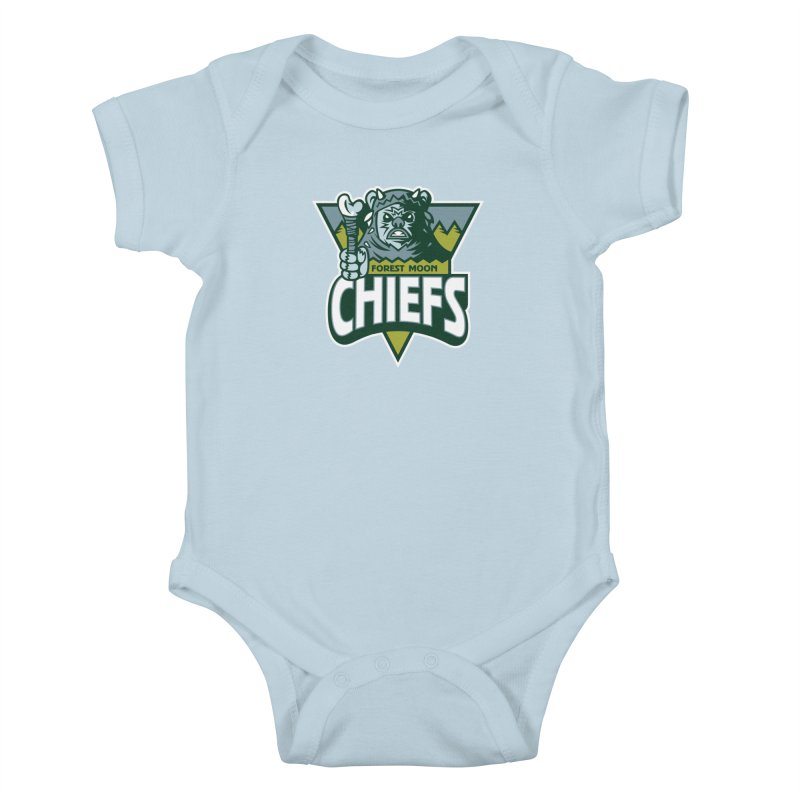 Forest Moon Chiefs Kids Baby Bodysuit by WanderingBert Shirts and stuff