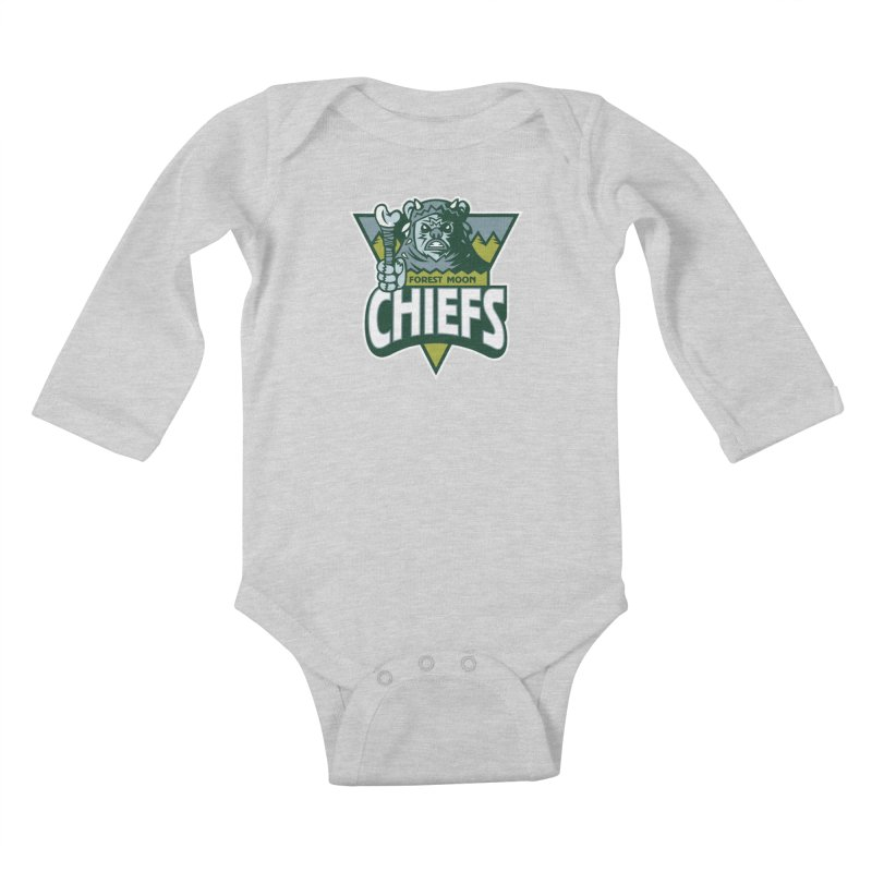 Forest Moon Chiefs Kids Baby Longsleeve Bodysuit by WanderingBert Shirts and stuff