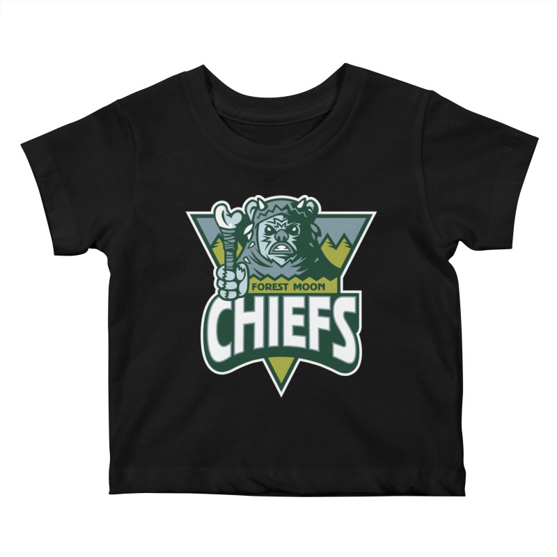 Forest Moon Chiefs Kids Baby T-Shirt by WanderingBert Shirts and stuff