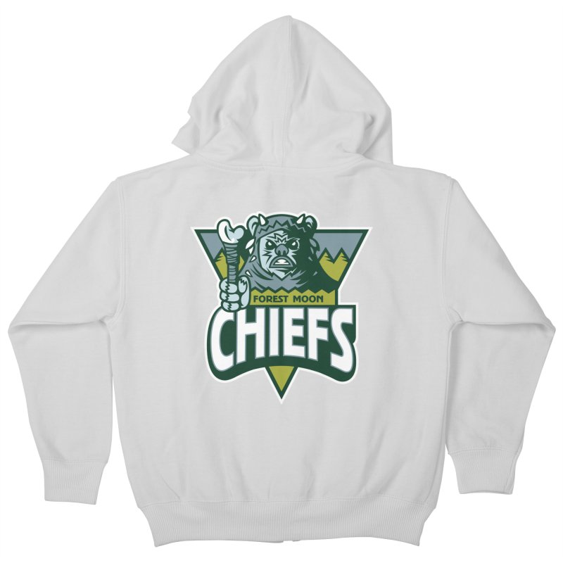 Forest Moon Chiefs Kids Zip-Up Hoody by WanderingBert Shirts and stuff