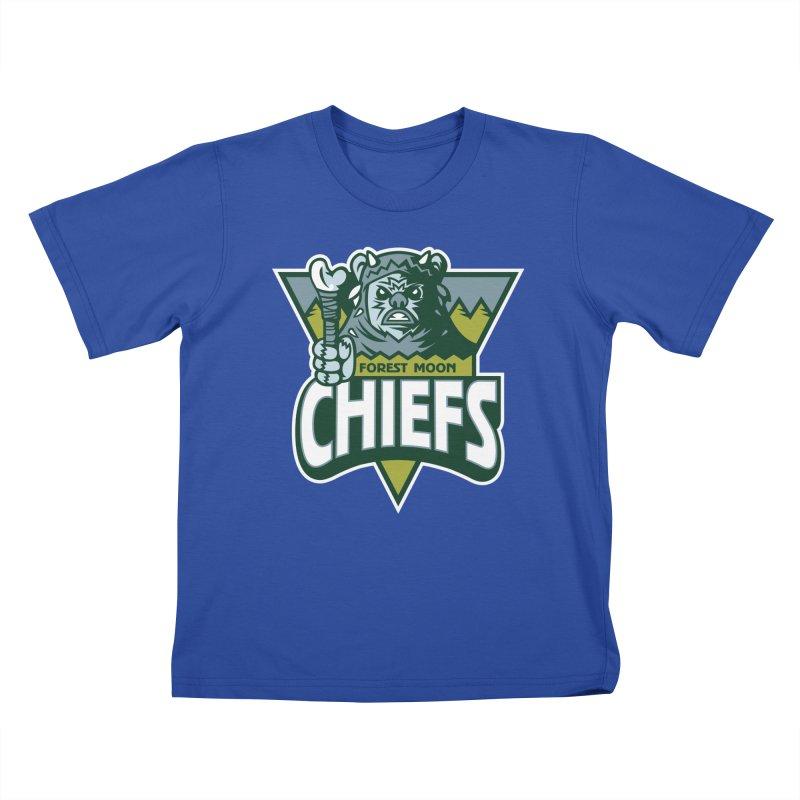 Forest Moon Chiefs Kids T-Shirt by WanderingBert Shirts and stuff