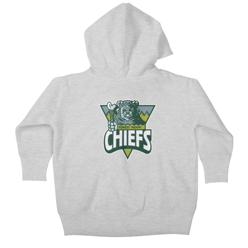 Forest Moon Chiefs Kids Baby Zip-Up Hoody by WanderingBert Shirts and stuff