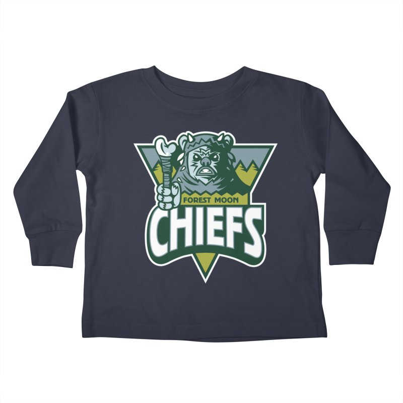 Forest Moon Chiefs Kids Toddler Longsleeve T-Shirt by WanderingBert Shirts and stuff