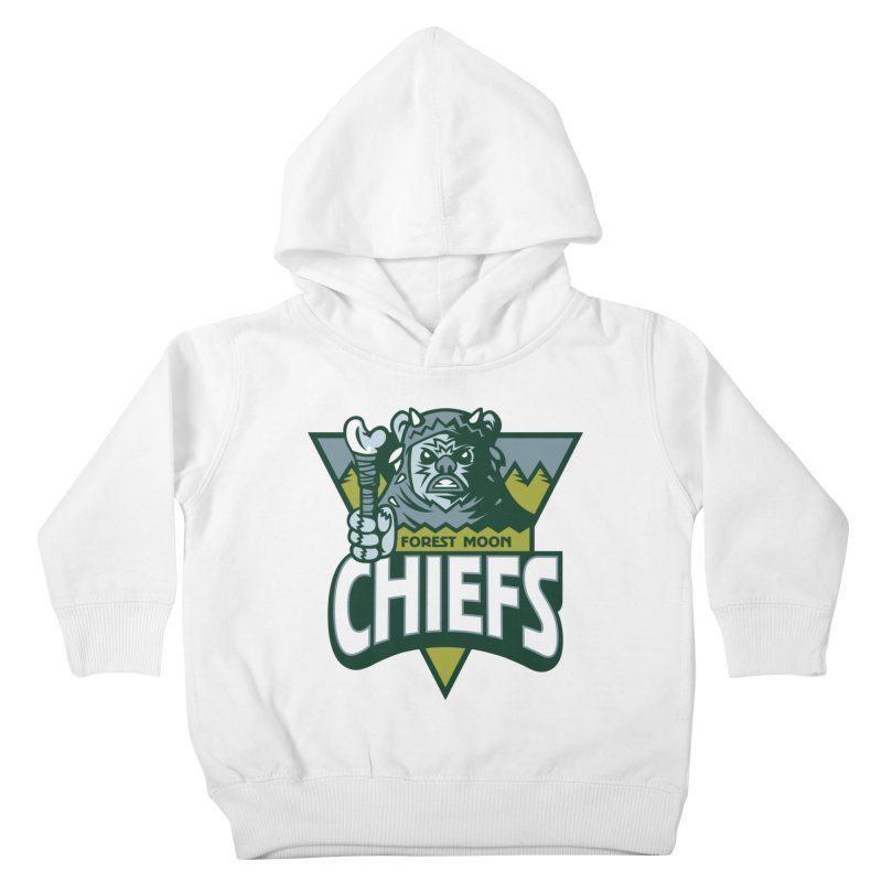 Forest Moon Chiefs Kids Toddler Pullover Hoody by WanderingBert Shirts and stuff